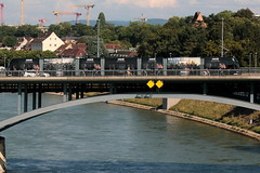 Tram - Strassenbahn auf der Wettsteinbrcke Basel ( Baujahr 1877 - 1879 - Oberbau Neubau 1991 - Rheinbrcke Strassenbrcke Brcke bridge pont ) ber den Rhein ( Hochhrein Fluss River ) in der Altstadt - Stadt Basel im Kanton Basel Stadt der Schweiz (chrchr_75) Tags: hurni christoph schweiz suisse switzerland svizzera suissa swiss chrchr chrchr75 chrigu chriguhurni chriguhurnibluemailch juli 2016 juli2016 albumstadtbasel baselstadt stadtbasel kantonbaselstadt stadt city ville  by  citt  stad ciudad tram basel strassenbahn v ffentlicher verkehr stdtische verkehrsbetriebe rhein rhin reno rijn rhenus rhine rin strom europa albumrhein fluss river joki rivire fiume  rivier rzeka rio flod ro