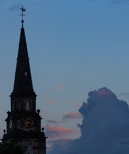 The man in the Sky is amused by the Church Tower