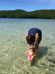 floating (elizajanecurtis) Tags: 5months eliza hattie longpond maine mainesummer summer swimming