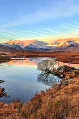 Black Mount at Sunrise (Rework) (MilesGrayPhotography (AnimalsBeforeHumans)) Tags: autumn britain canon 6d canon6d 24105 24105mmf4lisusm dawn eos europe glow glencoe iconic uk landscape loch lochannahachlaise lochan blackmount morning mountains morninglight outdoors photography reflections rocks rannoch rannochmoor highlands scotland sunrise scottish scottishhighlands waterscape water westhighlandway sky scenic freezing cold snow colours colourful