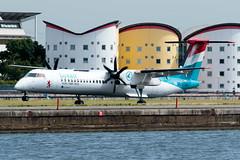 Luxair - De Havilland Canada DHC-8-402Q Dash 8 - LX-LGN  London City Airport (paulstevenchalmers) Tags: londoncity london lcy airport