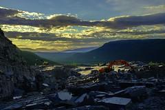 Altaskifer (audun.bie) Tags: alta norway slate quarry excavator sunset midnightsun valley scenery