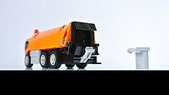 Garbage Truck (MOC) (hajdekr) Tags: lego legotechnic technic wheel wheels suspencion rubberband truck small easy simple simply basic garbage garbagetruck vehicle automobile car heavy 6x6 orange moc myowncreation design creation howto