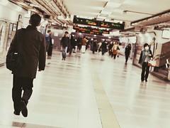 Scene at Nagoya Station (Jon-F, themachine) Tags: jonfu 2016 olympus omd em5markii em5ii  mirrorless mirrorlesscamera microfourthirds micro43 m43 mft ft     people   crowds crowd crowded snapseed japan  nihon nippon   japn  japo xapn asia  asian fareast orient oriental aichi   chubu chuubu   nagoya  nagoyastation meieki