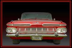 A Fine 59 Impala (Brad Harding Photography) Tags: 1959 59 chevrolet chevy chrome antique restored restoration gmc generalmotorscorporation olccarbikeshow kansascity missouri streetrod customized vintage historic car automobile vehicle fins