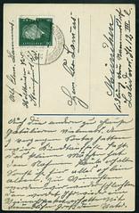 Archiv G717 Namenstagsgre (back) vom 21. November 1931 (Hans-Michael Tappen) Tags: archivhansmichaeltappen holthausen steinfurt westfalen poststempel briefmarke stamps glckwunschkarte namenstag 1930er 1930s 1931