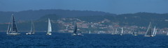 No hay viento para tanto velero.  No wind for both sailboat. (elena m.d.) Tags: regataboat barco velero azul maroceanoverano navegar