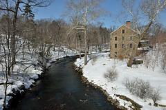 Snuff Mill in the Snow (Eddie C3) Tags: snow rivers urbannature urbanforest newyorkbotanicalgarden snowscenes bronxriver nybgforest