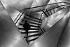 staircase inside the CaixaForum, Madrid (Kim S. Landgraf) Tags: madrid street city people urban blackandwhite bw public silhouette museum kim steps streetphotography olympus staircase 12mm metall caixaforum kimlandgraf em5