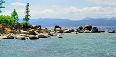 Closer up of the rocks in Sand Harbor, Lake Tahoe (Joe Lach) Tags: trees lake beach water forest sand rocks nevada laketahoe alpine sierranevada sandharbor waterpictorial joelach