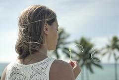 Summer's Embrace (Ca$hreno) Tags: summer portrait film beauty 35mm hawaii photoshoot bubbles rangefinder contax epson filmcamera planar shallowdepthoffield kodakfilm carlzeiss contaxg2 v700 ektar100