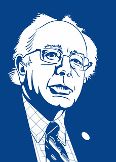 From flickr.com/photos/47422005@N04/16702549983/: Bernie Sanders - Caricature