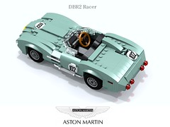 Aston Martin DBR2 Racer (1957-1959) (lego911) Tags: auto uk england classic sports car model martin lego britain render great under over 1950s million gb 1958 1957 marek challenge lemans thousand aston cad racer lugnuts 89 povray moc ldd miniland dbr2 tadek lego911 overamillionunderathousand