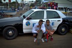 Thugs (mattmulroy) Tags: california santa wood people car pier police skaters monica skate skateboard boardwalk thugs thug skateboarders