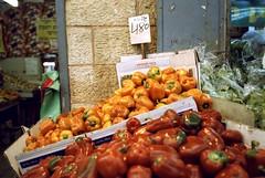 The colors of the market (Ilya.Bur) Tags: film analog israel market jerusalem olympus 200 vista agfa mjuii yehuda    mahane