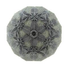 Robin Scholz. HydRingEa (kastudio) Tags: art robin paper origami mosaic hydrangea tessellation scholz fujimoto shuzo hydringea