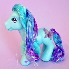 2006 Daybreak - My Little Pony (The Barbie Room) Tags: blue glitter butterfly purple little crystal 2006 pony tinsel daybreak hasbro mlp 2000s 00s my