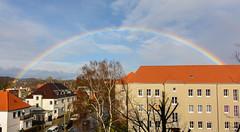 After the rain (MR-Fotografie) Tags: rainbow regenbogen sonne wolken sun cloud rain yellow red blue green rot gelb blau grün nikon d7100 tokina 1228mm mrfotografie hallesaale explore