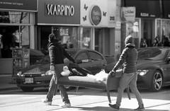 Street Crossing (g026r) Tags: people bw film fuji m42 neopan zenit expired manualfocus panchromatic zenit12xp zenit12 kmz neopanss primelens 135film jupiter37a gelatinsilver fujineopanss m42mount  37a 12 presetaperture roll2e