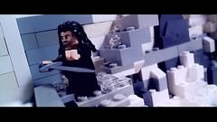 Battle of the Five Armies Frame (SteampunkDoc) Tags: motion death tears lego aidan lord rings stop animation fans fangirls hobbit turner tolkien kili dwarves kleanex botfa