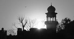 Sunset Behind a Mosque (schaazzz) Tags: pakistan sunset minaret mosque rawalpindi saddar sal16105 sonyalpha550 sonya550 schaazzz mygearandmepremium mygearandmebronze shahzebihsan