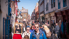 So busy (Bashed) Tags: street uk people woman female person weekend yorkshire crowd goth busy whitby 2015