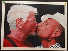 Bruderkuß (clemsart2) Tags: hut homo mann bild männer kus öl erotik haare gemälde bruderkus