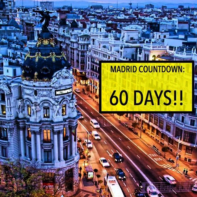 Really its 59 days now, but I cant wait to leave the US to live in #Madrid, #Spain for six weeks!! The first real thing Im doing for myself in so many years. I cant wait to see how much I learn and grow from this trip. CANNOT WAIT. #travel #getaway