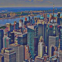 Manhattan, now in fun colors 051215 #NYC #city #newyork #Manhattan #architecture #skyscrapers #jezevec (Badger 23 / jezevec) Tags: new york newyorkcity newyork nuevayork 2014     nowyjork  niujorkas      thnhphnewyork         ujorka          dinasefrognewydd neiyarrickschtadt  tchiaqyorkiniqpak  evreknowydh   lteptlyancucyork  nuorkheri    niuyoksiti