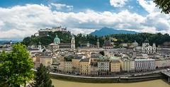 Salzburg Panorama (bayernphoto) Tags: salzburg austria sommer gloria berge franz kaiser alpen schloss sonnig mozart statuen kk kuk burg sissi pracht mirabelle festung mirabell oesterreich salzach hohensalzburg walzer mirabellgarten glanz getreidegasse
