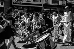 Toronto Pride 2016 (MorboKat) Tags: people toronto ontario canada monochrome march drum outdoor crowd pride parade prideparade lgbt yongestreet drumming yonge spectator blm torontopride pridemarch prideto blmto blacklivesmattertoronto pride2016 torontopride2016
