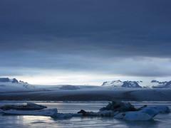 IMG_7541 (NapoleonIsNotDead) Tags: sunset summer sun white lake ice water sunshine clouds landscape evening iceland cloudy south lagoon iceberg jkulsrln glacial