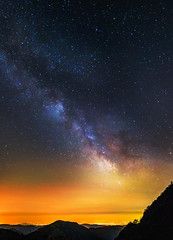 Piece of Infinity (Mat Viv) Tags: longexposure nightphotography italy panorama mountains nature beauty vertical night canon skyscape stars landscape outdoors eos rebel space wideangle galaxy astrophotography crop tuscany astronomy nightsky universe milkyway 14mm samyang 700d canon700d canoneos700d t5i samyanglens samyang14mmf28 canont5i canoneost5i