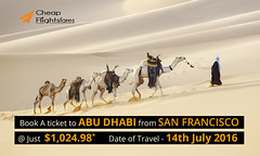 Today's one-way special deals for Abu Dhabi (CheapFlightsFrs) Tags: special abu dhabi deals