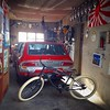 home is where your garage is (HelveTiki) Tags: bicycle toyota crown cruiser beachcruiser