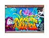 Graffiti (Dscreet, Milo Tchais, Melo, Binho, Tinho), East London, England. (Joseph O'Malley64) Tags: dscreet milotchais melo binho tinho brasil graffiti streetart eastlondon eastend london england uk britain british greatbritain wall walls render breezeblockinfill brickwork concrete mural muralists wallmural aerosol cans spray paint