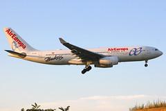 "EC-LQO | Airbus A330-243 | Air Europa (w/""Hawkers"" logo - sunglasses manufacturer) (cv880m) Tags: newyork kennedy jfk kjfk widebody eclqo airbus a330 332 330200 330243 aireuropa spain hawkers sunglasses"