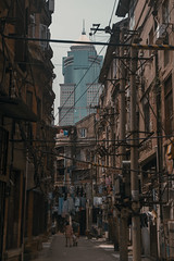 City (shane.fu) Tags: old city sky people building town wire day retro wires wuhan