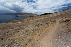Deserted Path (Katka S.) Tags: madeira island portugal nature national park sao lorenzo cape capo dry dessert clouds sky path stroll