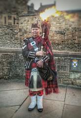 Piping Hot (kevinmcnair) Tags: edinburghtattoo piper scotland edinburghcastle scottishtartan bagpipes