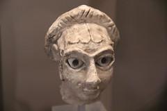 Limestone head of a woman, Khafaje, Early Dynastic Period II, c. 2700 BC (Gary Lee Todd, Ph.D.) Tags: france louvre paris ancient neareast