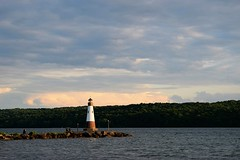 Light House on Cayuga Lake (heyjudephoto) Tags: new york lighthouse lake ny nature water clouds dusk lansing upstate ithaca fingerlakes cayuga