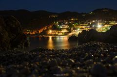 Silence on the Beach (Predrag Drobac) Tags: sea night beach water reflection outdoor long exposure