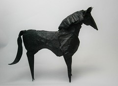 Caballo (Alexander Oliveros) Tags: caballo origami negro animales horse paperfolding