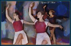 Composizione con ballerine di danza classica - Luglio-2016 (agostinodascoli) Tags: danzaclassica ballerine art digitalart nikon nikkor cianciana sicilia photoshop photopainting digitalpainting texture donne agostinodascoli