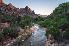 Canyon Junction II (Empty Quarter) Tags: sony a7r 2470 f4 zion utah national park virgin river cathedral mount mountain canyon southwest landscape junction sunset longexposure daytime