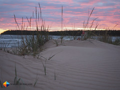 Sunset behind the dunes (HendrikMorkel) Tags: yyteri pori finland beach sand sunset sea balticsea clouds dunes
