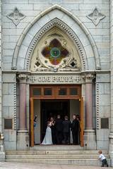 wedding day (angie pineappletree) Tags: halifax novascotia canada springgardenroad church catholic people door wedding summer