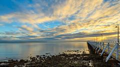 Shorncliffe Pier Sunrise (Visual Clarity Photography) Tags: 2016 au august australia brisbane d4s hdrprocess landscape lightroom201561 lightroomcc longexposure nikkor1424mmf28g nikond4s qld queensland redlandcity sunrise viveza20 wellingtonpoint