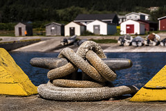 Knot & fishing huts (marianna_away for a while) Tags: newfoundland fishing boat tie rope marianna armata canada